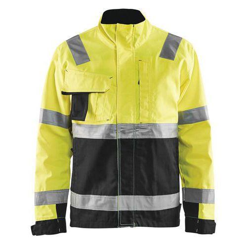 Veste haute visibilité jaune fluorescent/noir col haut