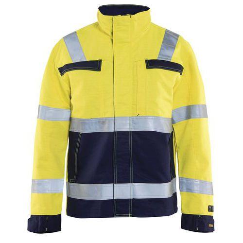 Veste multinormes jaune fluorescent/marine
