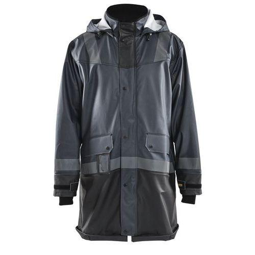 Manteau de pluie niveau 2 gris foncé/noir