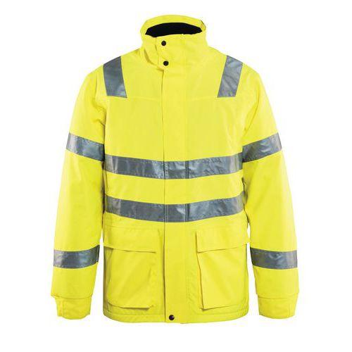 Parka haute visibilité jaune fluorescent