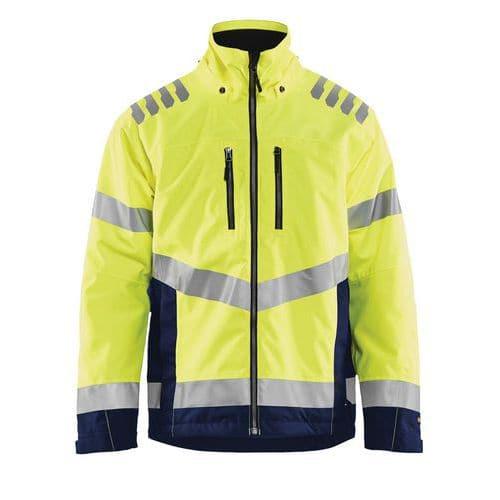 Veste hiver haute visibilité jaune fluorescent/marine, étanche