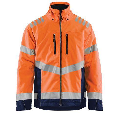 Veste hiver haute visibilité orange fluorescent/marine, respirant
