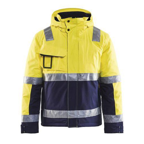 Veste haute visibilité hiver stretch 2D jaune fluorescent/marine