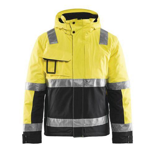 Veste haute visibilité hiver stretch 2D jaune fluorescent/noir