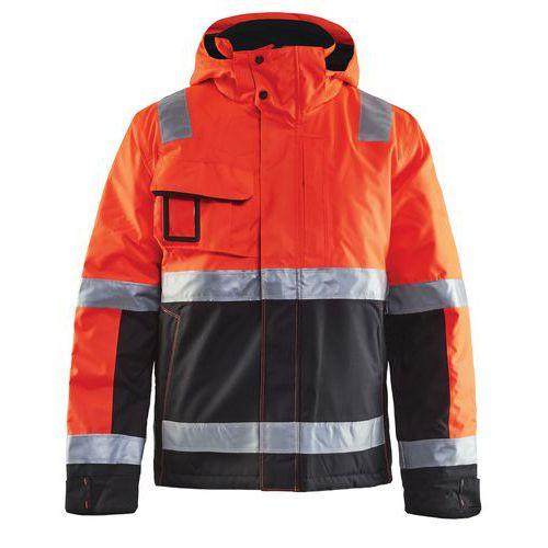 Veste haute visibilité hiver stretch 2D rouge fluorescent/noir