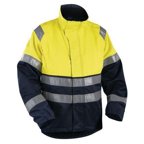 Veste haute visibilité jaune fluorescent/marine avec ventilation