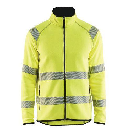 Veste tricotée haute visibilité jaune fluorescent