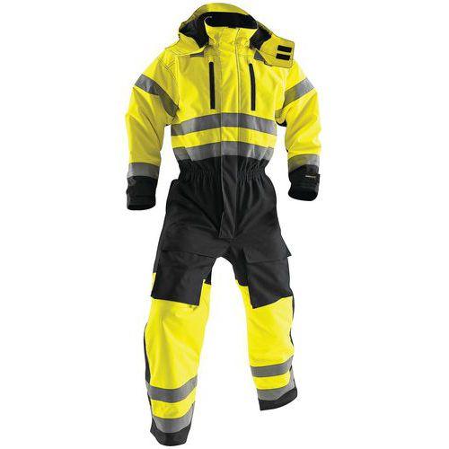 Combinaison manches longues haute visibilité  jaune fluorescent/noir