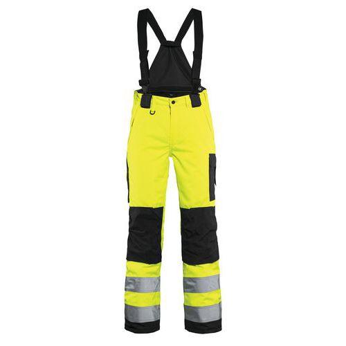 Pantalon hiver à bretelles haute visibilité femme jaune/noir