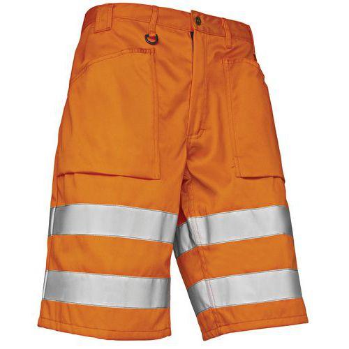 Short haute visibilité orange fluorescent