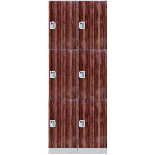 Vestiaire plastique multi-cases - Hauteur casier 632 mm - À monter - Manutan