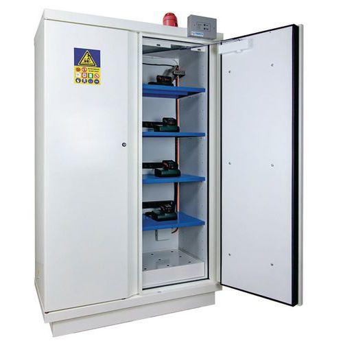 Armoire de sécurité pour le stockage de batteries lithium - Avec extincteur - Trionyx