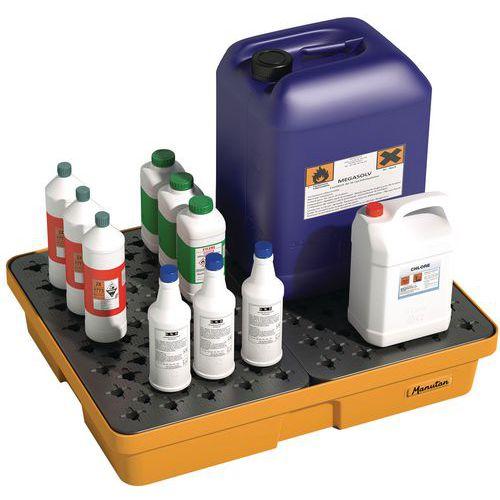 Bac de rétention de laboratoire - 60 L - Manutan