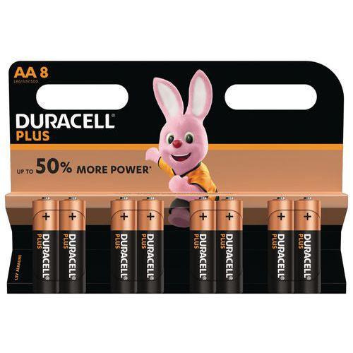 Pile Alcaline Plus Power AA LR6 - Pack de 8 - Duracell