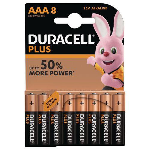 Pile Alcaline Plus Power AAA LR3 - Pack de 8 - Duracell