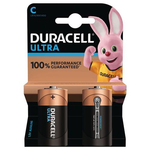 Pile Alcaline Ultra Power C LR14 - Pack de 2 - Duracell