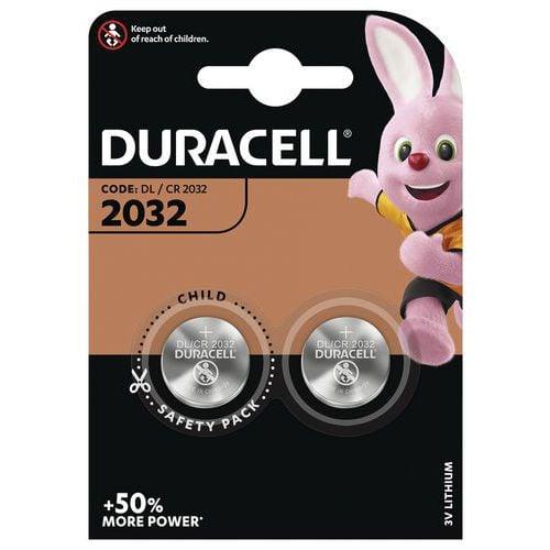 Pile bouton Lithium CR2032 - Pack de 2 - Duracell