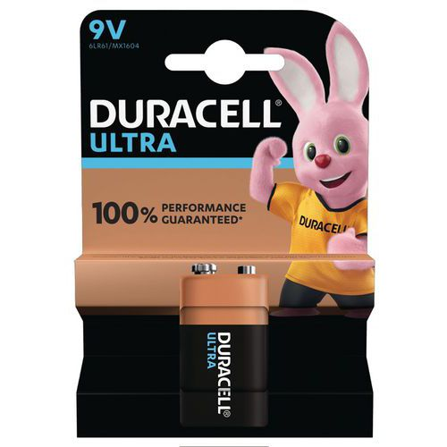 Pile Alcaline Ultra Power 9V 6LR61 - Duracell