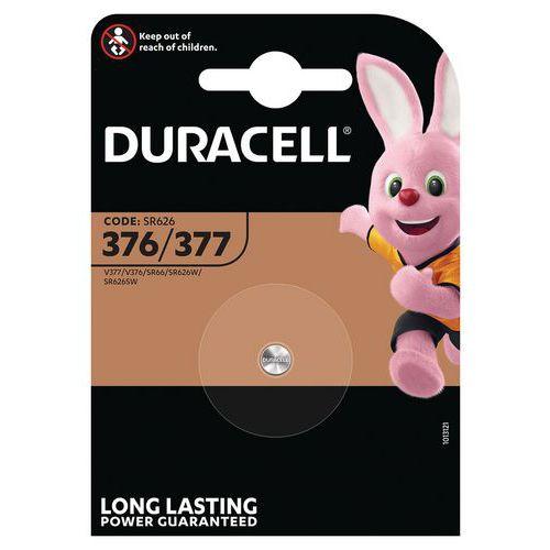 Pile Oxyde d'argent 377/376 SR66 - Pack de 2 - Duracell