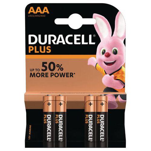 Pile Alcaline Plus Power AAA LR3 - Pack de 4 - Duracell