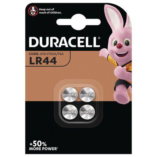 Pile bouton Alcaline LR44 - Pack de 4 - Duracell