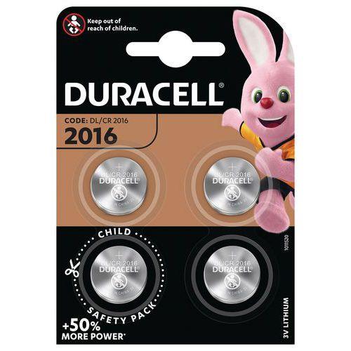 Pile bouton Lithium 2016 - Pack de 4 - Duracell
