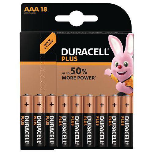 Pile - Plus Power AAA - Pack de 18 - Duracell