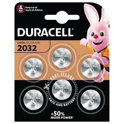 Pile bouton Lithium 2032 - Pack de 6 - Duracell
