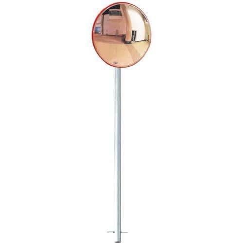 Miroir de sécurité avec poteau - Vision 130° - Manutan