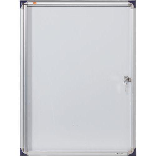 Vitrine d'intérieur extra plate Nobo à fond magnétique, 4 x A4