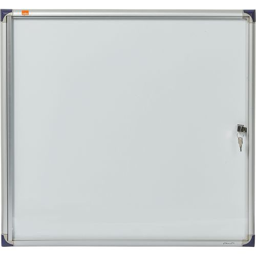 Vitrine d'intérieur extra plate Nobo à fond magnétique, 6 x A4