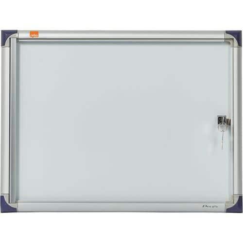 Vitrine d'intérieur extra plate Nobo à fond magnétique, 2 x A4