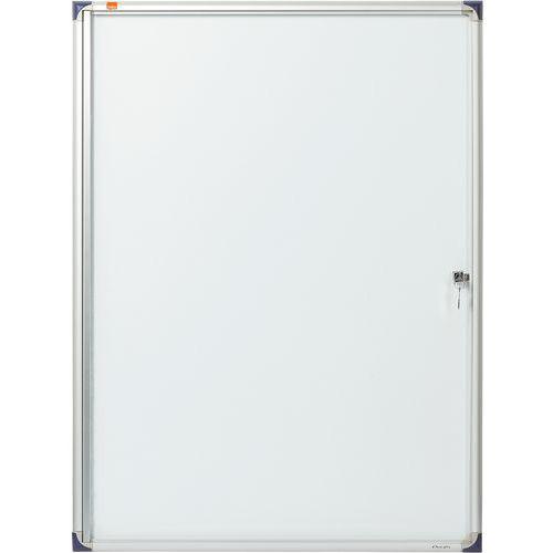 Vitrine d'intérieur extra plate Nobo à fond magnétique, 9 x A4