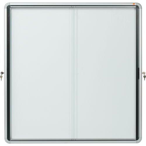 Vitrine d'intérieur Nobo à fond magnétique 12 x A4