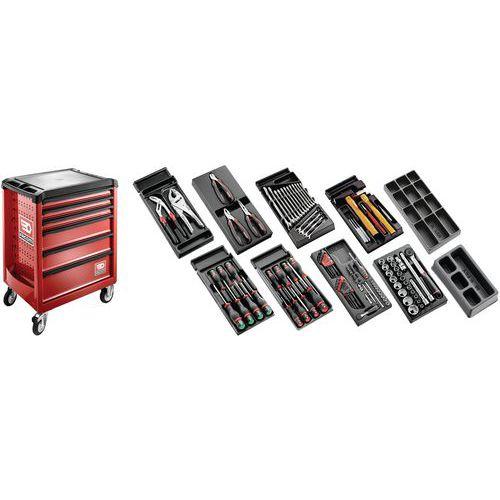 Sélection tous métiers 118 outils - servante 6 tiroirs