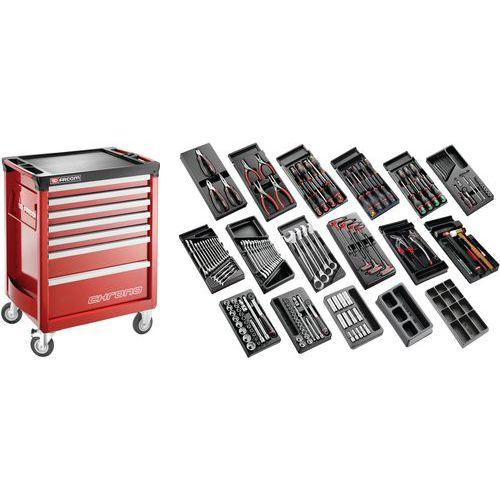 Sélection tous métiers 166 outils - servante 7 tiroirs