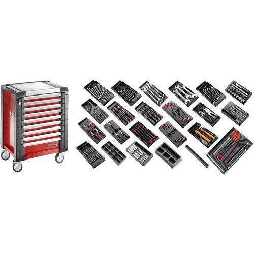 Sélection tous métiers 230 outils - servante 9 tiroirs