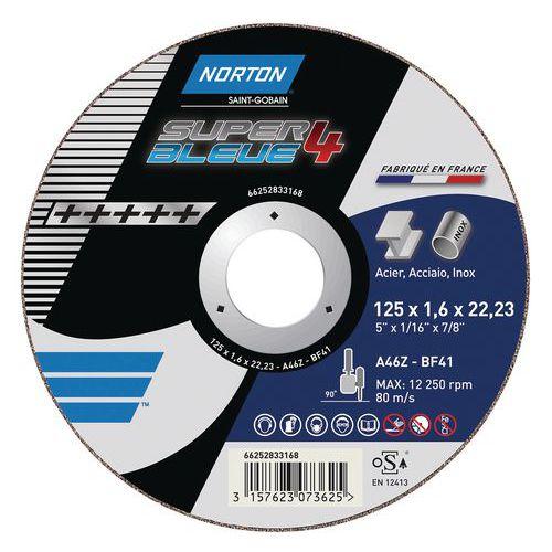 Disque de tronçonnage plate Norton SUPER BLEUE 4-METAL
