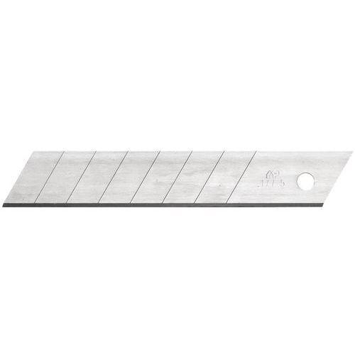 Lame cutter 18 mm 7 précassures en acier supérieur - Mure et Peyot