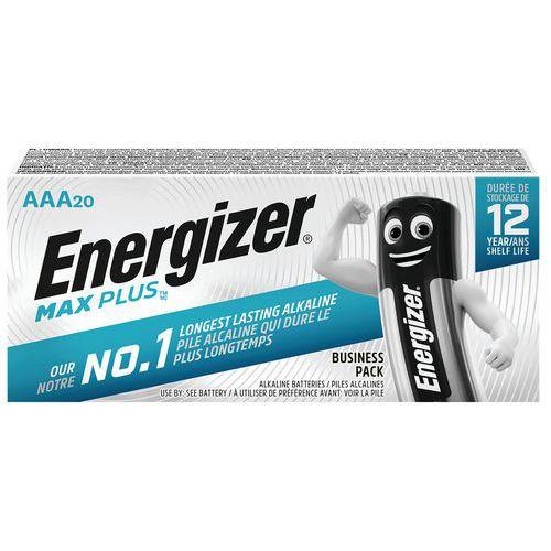 Pile alcaline Max Plus AAA/LR3 - Lot de 20 - Energizer