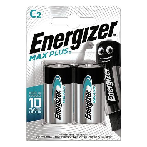 Pile alcaline Max PLus C/LR14 FSB2 - Lot de 2 - Energizer