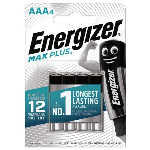 Pile alcaline Max Plus AAA LR03 FSB4 - Lot de 4 - Energizer