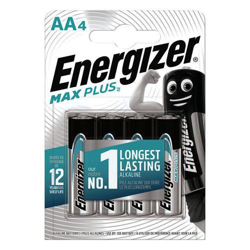 Pile alcaline Max Plus AA/LR6 FSB4 - Lot de 4 - Energizer