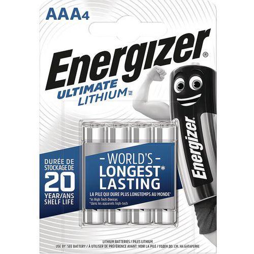 Pile Lithium Ultimate - AAA/LR03 - 1.5 V - Lot de 4 - Energizer