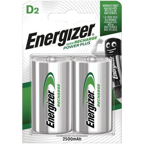 Pile alcaline rechargeable - D/LR20 - Lot de 2 - Energizer