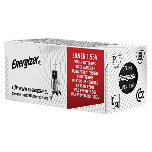 Pile bouton oxyde argent 395-399 - Lot de 10 mini blister - Energizer