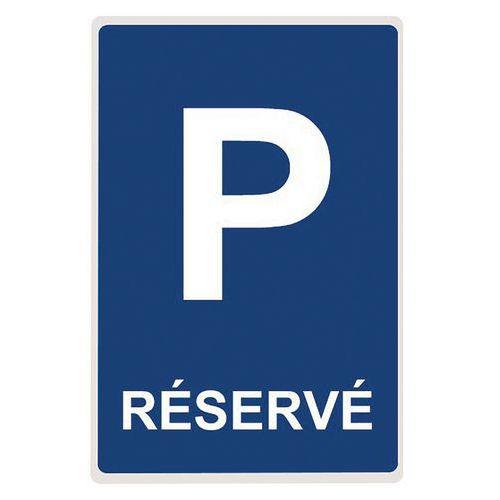Panneau parking réservé en aluminium plat