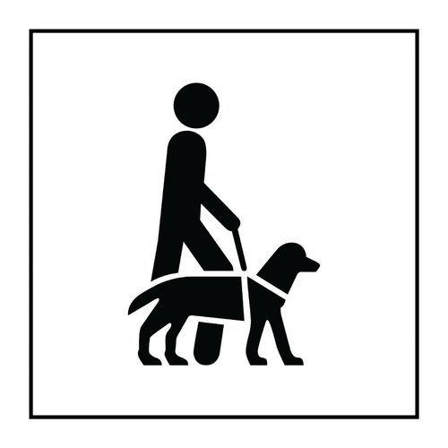 Pictogramme accessibilité chien guide ou d'assistance en PVC