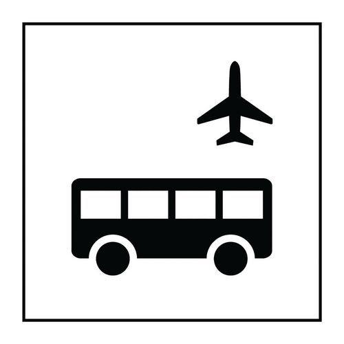 Pictogramme autobus d'aéroport en PVC