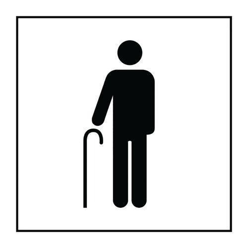 Pictogramme accès prioritaire aux personnes âgées en Vinyle